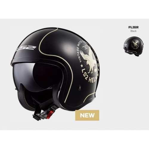 Kaski motocyklowe, KASK MOTOCYKLOWY LS2 OF599 SPITFIRE FLIER BLACK