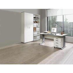 JACK - Kompletne biuro, biurko, kontener na kółkach, regał, biały. Atrakcyjny w