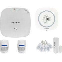 ZA12651 Bezprzewodowy system alarmowy GSM 4G 2 czujki ruchu HIKVISION z sygnalizatorem