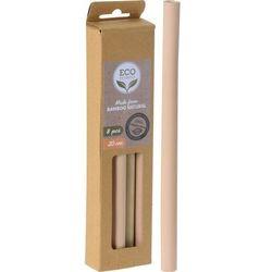 Bambusowe słomki, 8 szt.