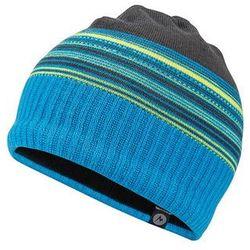 Czapka przejściowa Marmot boy's Striper Hat niebieski/ limonkowy/ szare paski