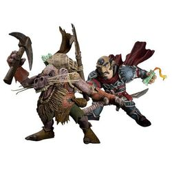 World of Warcraft Series 8 Action Figure Gnome Rogue vs Kobold Miner (DC0014)