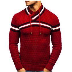 Sweter męski czerwony Denley 6006