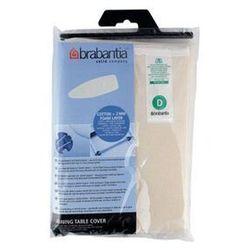 Brabantia - pokrowiec na deskę do prasowania 135 x 45cm - pianka 2mm - heat resistant - biało-czarny