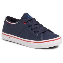 Tenisówki TOMMY HILFIGER - Low Cut Lace-Up Sneaker T3B4-30694-0034 S Blue 800