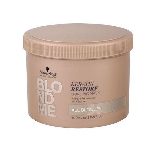 Odżywianie włosów, Schwarzkopf Professional Blondme maska regenerująca dla wszystkich odcieni blond (Keratin Restore Bonding Mask) 500 ml