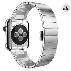 SREBRNA Elegancka bransoleta/pasek do Apple Watch Lock Loop 42mm - Srebrny