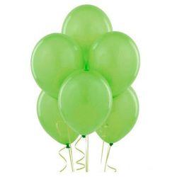 Balony lateksowe pastelowe jasnozielone - średnie - 100 szt.