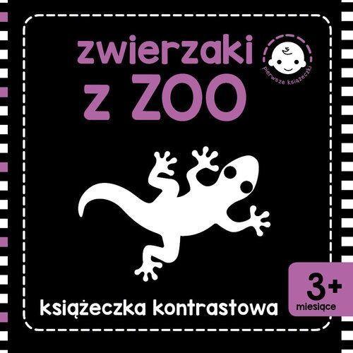 Książki dla dzieci, Zwierzaki z zoo. Książeczka kontrastowa (opr. kartonowa)
