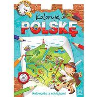 Kolorowanki, Koloruję Polskę. Malowanka z naklejkami