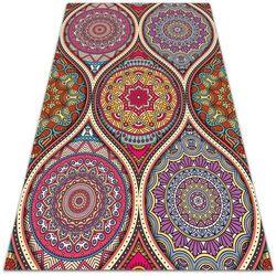 Modny uniwersalny dywan winylowy Modny uniwersalny dywan winylowy Kolorowa mandala
