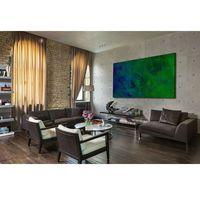 Obrazy, Nowoczesne obrazy ręcznie malowane - turkusowa toń rabat 20%