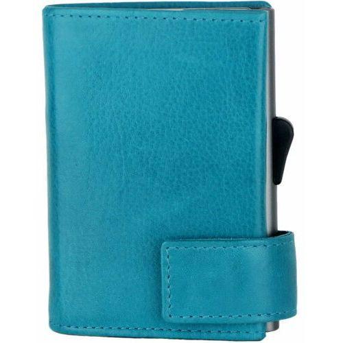 Etui i pokrowce, SecWal SecWal 2 Kreditkartenetui Geldbörse RFID Leder 9 cm türkis ZAPISZ SIĘ DO NASZEGO NEWSLETTERA, A OTRZYMASZ VOUCHER Z 15% ZNIŻKĄ