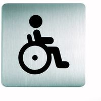 Oznakowanie informacyjne i ostrzegawcze, Oznaczenie toalet metalowe kwadratowe - WC dla niepełnosprawnych