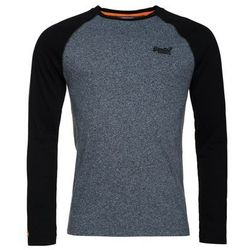 Superdry ORANGE LABEL BASEBALL Bluzka z długim rękawem twilight blue grit/black