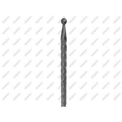 Szpic z kulką h350, b15, zdobený 12x12mm