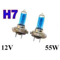 Żarówki ksenonowe samochodowe, Żarówki (2szt.) Samochodowe H7 (12V) Xenon H.I.D. Super White (moc 55W) - Homologowane.