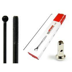 Szprychy CNSPOKE STD14 2.0-2.0-2.0 stal nierdzewna 240mm czarne + nyple 144szt.