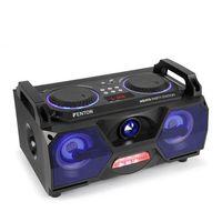 """Rejestratory i odtwarzacze audio, Fenton MDJ115 odtwarzacz multimedialny USB SD BT AUX 120W wzmacniacz 5,5"""" woofer LED RGB"""