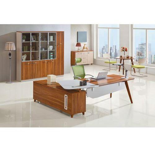 Biurka i stoliki, Nowoczesne biurko z pomocnikiem EVOLUTIO A309 240 cm