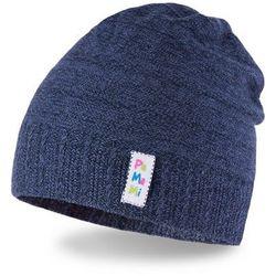 Bawełniana czapka dziecięca PaMaMi- ciemnoniebieski - Ciemnoniebieski