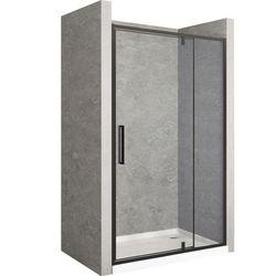 Drzwi prysznicowe z czarnym profilem 140 cm Rapid Swing Rea UZYSKAJ 5 % RABATU NA ZAKUP
