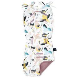 Wkładka do wózka - Thick Stroller Pad - Cute Birds - French Lavender - La Millou - Velvet Collection