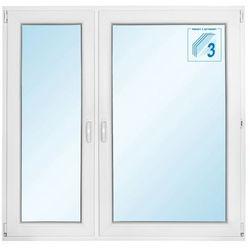 Okno PCV rozwierno-uchylne + rozwierne trzyszybowe 1465 x 1435 mm lewe