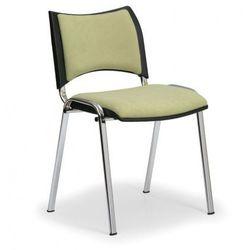Krzesło konferencyjne SMART - chromowane nogi, bez podłokietników, zielony