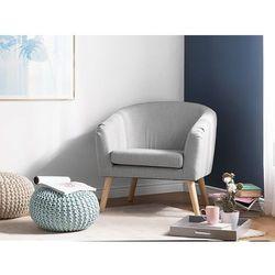 Fotel tapicerowany szary NAPPA