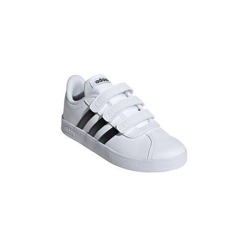 Buty sportowe dla dzieci, BUTY DZIECIĘCE NA RZEPY VL COURT 2.0 BIAŁE