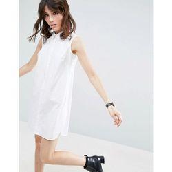 ASOS Sleeveless Cotton Shirt mini dress - White