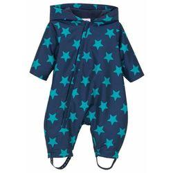 Kombinezon niemowlęcy przeciwdeszczowy, na podszewce bonprix ciemnoniebieski