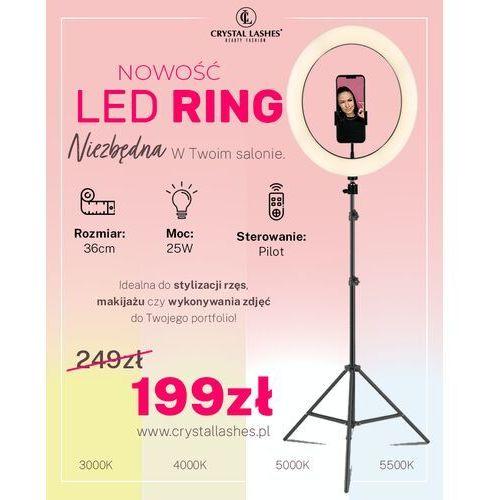 Lampa LED Ring ze statywem - 36CM / Pilot / Selfie