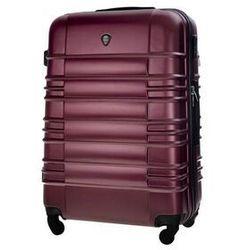 Mała walizka kabinowa abs 55x37x24cm stl838 metaliczna burgundowa marki Solier